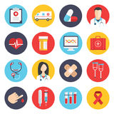 Medical flat icons set Royalty Free Stock Images