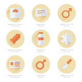 Medical Flat Icons Vector Design 2 color Royalty Free Stock Images