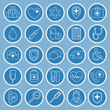 Medical flat icons. Medical flat vector icons for your website, business cards, brochures in the form of a circle Stock Image