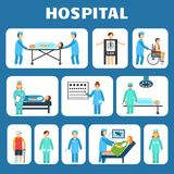 Medical flat pictograms set Stock Photo