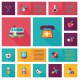 Medical flat ui background,eps10 Stock Photo