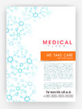 Medical flyer, template or brochure design. Stock Photography