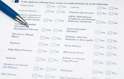 Medical form Stock Photography