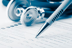 Medical form Stock Images