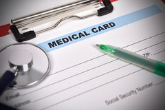 Medical form Stock Photo