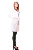 Medical. Full length of woman doctor in lab coat Royalty Free Stock Photo