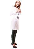Medical. Full length of woman doctor in lab coat Stock Photo