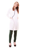Medical. Full length of woman doctor in lab coat Stock Photos