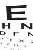 Medical - Fuzzy sight of eye chart Royalty Free Stock Photo