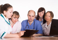 Medical gathering portrait Royalty Free Stock Images