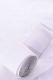 Medical gauze on white. See my other works in portfolio Royalty Free Stock Photography
