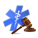 Medical and gavel Royalty Free Stock Photography