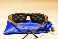 Medical glasses to improve vision. stock images