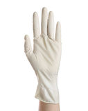 Medical glove isolated on white  Stock Photos