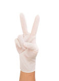 Medical glove to protection Royalty Free Stock Photos