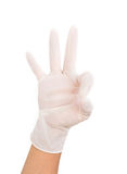 Medical glove to protection Royalty Free Stock Photography