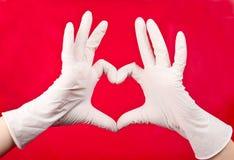 Medical gloves Stock Images