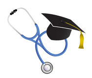 Medical graduation stethoscope illustration design Royalty Free Stock Photography
