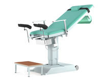 Medical gynecological chair isolated Stock Photography