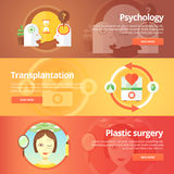 Medical and health banners set. Sexology. Transplantation.  Stock Images