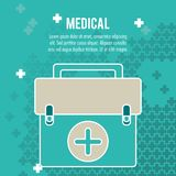 Medical health care box first aid. Vector illustration eps 10 Royalty Free Stock Photos