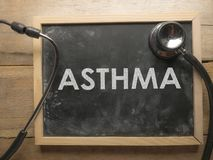 Medical and Health Care Concept, Asthma. Medical and health care words writing typography lettering concept, Asthma royalty free stock image