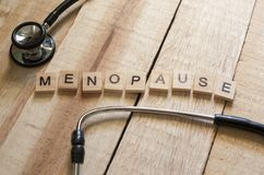 Medical and Health Care Concept, Menopause. Medical and health care words writing typography lettering concept, Menopause stock photos