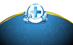 Medical health care concept science design background and frame. Eps 10 vector Stock Image