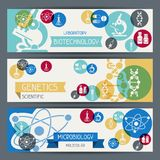 Medical and health care horizontal banners Stock Image