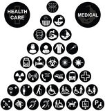 Medical and health care Icon collection Royalty Free Stock Image