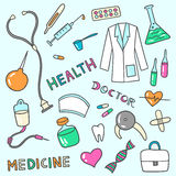 Medical and health care icons Royalty Free Stock Image