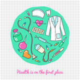 Medical and health care icons Royalty Free Stock Photo