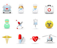 Medical and health-care icons. Part 2. Set of 12 medical and health care icons Royalty Free Stock Photography