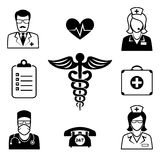 Medical and Health care icons Stock Photos