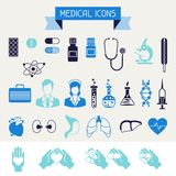 Medical and health care icons set Stock Image