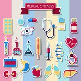 Medical and health care icons set Stock Photos
