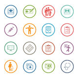 Medical & Health Care Icons Set. Flat Design.  Stock Photos