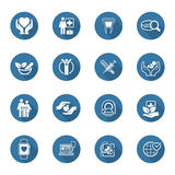 Medical and Health Care Icons Set. Flat Design. Stock Images