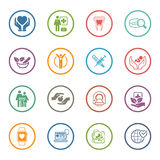 Medical and Health Care Icons Set. Flat Design. Isolated Illustration Royalty Free Stock Photography