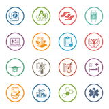 Medical and Health Care Icons Set. Flat Design. Isolated Illustration Royalty Free Stock Photos
