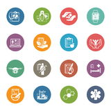 Medical and Health Care Icons Set. Flat Design. Royalty Free Stock Images