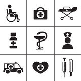 Medical and health care icons set Royalty Free Stock Images