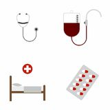 Medical & Health Care icons set royalty free illustration