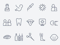 Medical and health care icons. stock illustration