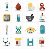 Medical and health care icons Stock Image