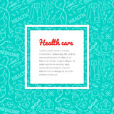 Medical and health care pattern Royalty Free Stock Images