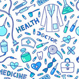 Medical and health care pattern Royalty Free Stock Photo