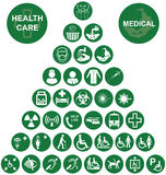 Medical and health care red Icon collection Stock Photos