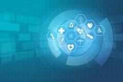 Medical health care science innovation concept pattern backgroun. D vector illustration royalty free illustration