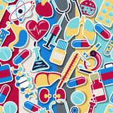 Medical and health care seamless pattern Stock Images